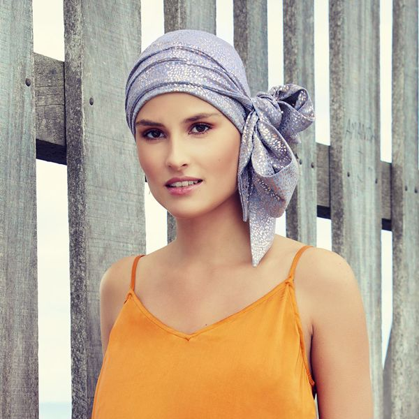 KARLA • V scarf long - Glitter print