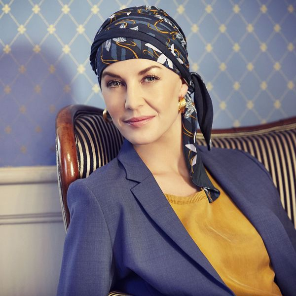 Beatrice turban with ribbons