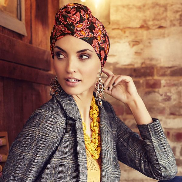 Boho - Sapphire turban set