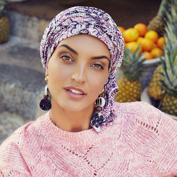 SAPPHIRE - Boho Turban set - Printed, Moroccan